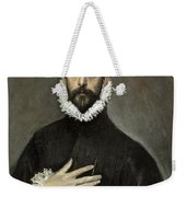 Nobleman With His Hand On His Chest Weekender Tote Bag