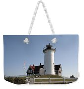 Nobska Lighthouse On Cape Cod At Woods Hole Massachusetts Weekender Tote Bag