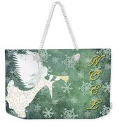 Noel Christmas Card Weekender Tote Bag