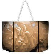 Non-stop Begonia Triptych Weekender Tote Bag