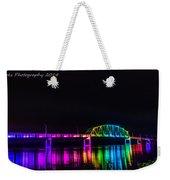Norbert F. Beckey Bridge In Rainbow Lighting Weekender Tote Bag