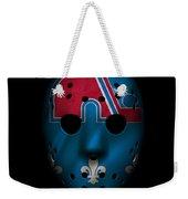 Nordiques Jersey Mask Weekender Tote Bag