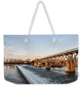 Norristown Dam And Railroad Bridge Weekender Tote Bag