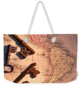 North America And Old Keys Weekender Tote Bag