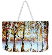 North Country Lake Superior Birch Trees Early Autumn Weekender Tote Bag