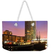 North Dock In Canary Wharf. Weekender Tote Bag