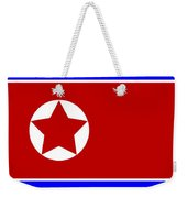 North Korea Flag Weekender Tote Bag