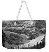 1m3536-bw-north Side Crowfoot Mountain  Weekender Tote Bag