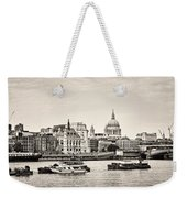 North Side Of The Thames Bw Weekender Tote Bag
