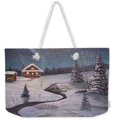 North Woods Cabin Weekender Tote Bag by Rick Huotari