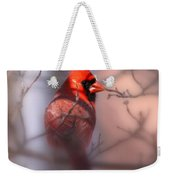 Northern Cardinal Dominent Male Weekender Tote Bag
