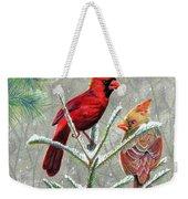 Northern Cardinals Weekender Tote Bag
