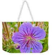 Northern Geranium By Transfiguration Of Our Lord Russian Orthodox Church In Ninilchik-ak Weekender Tote Bag