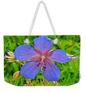 Northern Geranium In Jasper National Park-alberta  Weekender Tote Bag