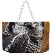 Northern Hawk Owl Weekender Tote Bag