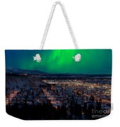 Northern Lights Over Whitehorse Weekender Tote Bag