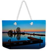 Northern Lights Weekender Tote Bag by Frozen in Time Fine Art Photography