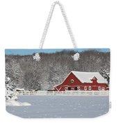 Northern Michigan Country Winter Weekender Tote Bag