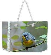 Northern Parula On Branch Weekender Tote Bag
