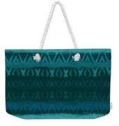 Northern Teal Weave Weekender Tote Bag by CR Leyland