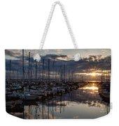 Northwest Sunset Marina Weekender Tote Bag