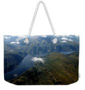 Norwegian Fjord From On High Weekender Tote Bag