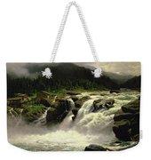 Norwegian Waterfall Weekender Tote Bag by Karl Paul Themistocles van Eckenbrecher