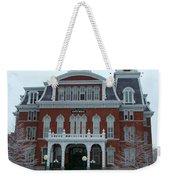 Norwich City Hall In Winter Weekender Tote Bag