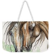 Nose To Nose Watercolor Painting Weekender Tote Bag