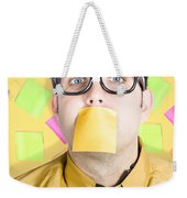 Notice Board Businessman With Crazy To-do List Weekender Tote Bag