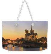 Notre Dame Cathedral At Sunset Paris France Weekender Tote Bag