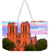 Notre Dame Cathedral Poster Weekender Tote Bag