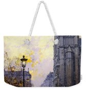 Notre Dame De Paris Weekender Tote Bag by Eugene Galien-Laloue