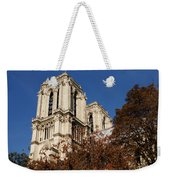 Notre-dame De Paris - French Gothic Elegance In The Heart Of Paris France Weekender Tote Bag