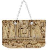 Notre Dame Detail Weekender Tote Bag