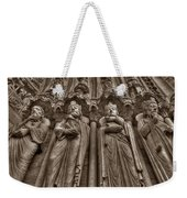 Notre Dame Facade Detail Weekender Tote Bag