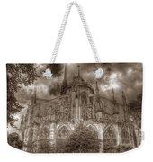 Notre Dame From East Garden Weekender Tote Bag