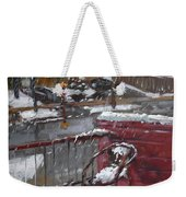 First Snowfall Nov 17 2014 Weekender Tote Bag