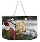 November Snow Rose Weekender Tote Bag