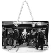 Now Boarding Track 12 And 10 For Home Bw Weekender Tote Bag