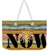 Now Wavy Weekender Tote Bag
