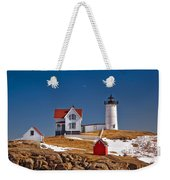 Nubble Lighthouse 3 Weekender Tote Bag