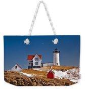 Nubble Lighthouse 3 Weekender Tote Bag by Joann Vitali