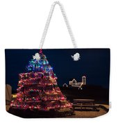 Nubble Lighthouse And Lobster Pot Tree Weekender Tote Bag