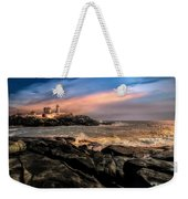 Nubble Lighthouse Winter Solstice Sunset Weekender Tote Bag