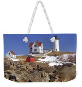Nubble's Rocky Coastline Weekender Tote Bag by Joann Vitali