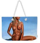 Nude Blond Beauty Weekender Tote Bag