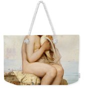 Nude Child With Dove Weekender Tote Bag
