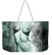 Nude Details - Digital Color Version Frame Aqua Black Weekender Tote Bag