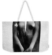 Nude In Sheer Clothing Weekender Tote Bag